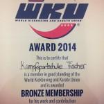 Die WKU Bronze Mitgliedschaft 2014